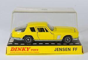 Dinky 188 Jensen Ff.   Jaune.   Boîtier en plastique dur.   Près de la menthe.   Original des années 1960