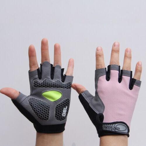 MTB Cycling Bike Silicone Gel Pad Gloves Shockproof Half Finger Short Proper