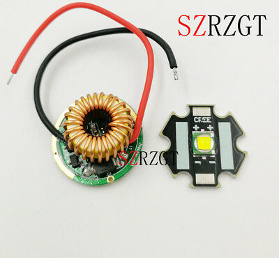 CREE XML LED T6 U2 10W LED Emitter 20MM Aluminum PCB+Input 12V LED driver