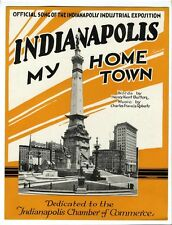 INDIANAPOLIS INDUSTRIAL EXPOSITION Sheet Music 1921 Indianapolis My Home Town