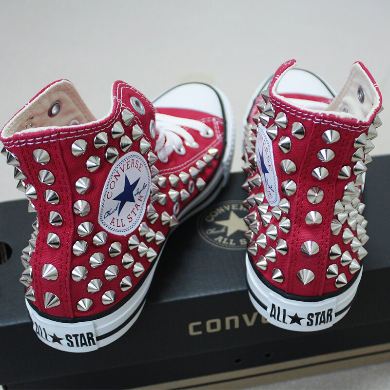 Genuine CONVERSE All-star with studs Sneakers Sheos Red