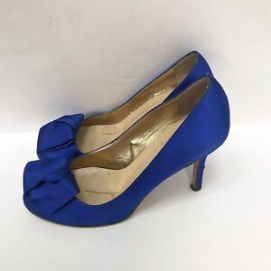 KATE SPADE NY Royal Blue Satin Origami