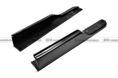 New 2Pcs Side Skirt Spat Splitter Lip Addon For Honda Civic FD2 Carbon Fiber