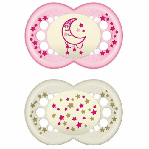 2 boîtes MAM Sucette Day /& Night Silicone 6-16 Mo 4er Set incl