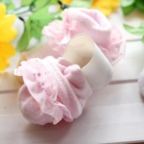 Dots Bowknot Princess Lace Soft Warm Cotton Socks Baby Girls Boys Socks LA