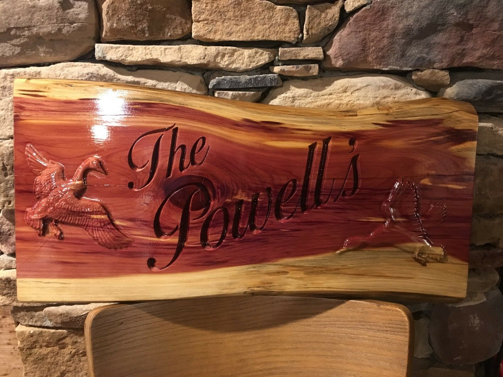 Personalized 3D Live Edge Last Name Sign