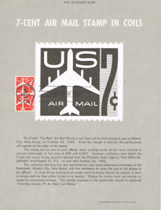 C61-7c-034-Fire-Red-034-Air-Mail-Stamp-Poster-Unofficial-Souvenir-Page-Flat-w-FDC