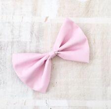 """Pastel pink hair bow on clip 6"""" Pin up - Kawaii"""