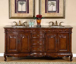 double sink vanity with granite top. Image Is Loading 72 034 Baltic Brown Granite Top Bathroom Lavatory  Double Sink Vanity