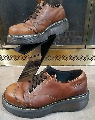 Vintage Dr. Martens AirWair Leather Shoes Low Top Boots Brown Women's Size 5 | eBay