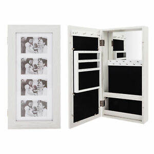 24-034-Lockable-Wall-Mount-Mirrored-Jewelry-Cabinet-Organizer-Armoire-Storage-Box