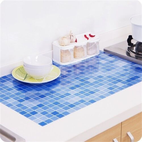 Home Self-adhesive Foil Stickers Waterproof Anti-oil Wall Paper 70x45cm Kitchen