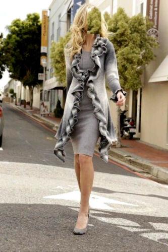 Marques Tricot Manteau Veste gris hiver printemps taille 44-46 011488498 9