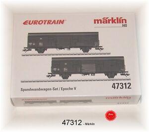2 Wagons NEU /& OVP Märklin HO: 47312 Spundwandwagen-Set der DB AG