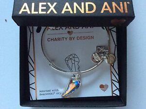 Alex-and-Ani-Crystal-Wing-Bangle-Bracelet-Shiny-Silver-NWTBC
