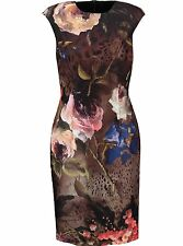 Roberto CAVALLI CLASS Abito Floreale uk10 it42 us6