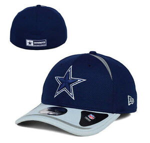 Dallas Cowboys NFL Team Apparel New Era 39THIRTY Jock Tag Cap Hat D ... a9c49882a