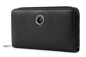 Mandarina-Duck-Mellow-Leather-ZIP-around-Wallet-l-monedero-Black-negro-nuevo