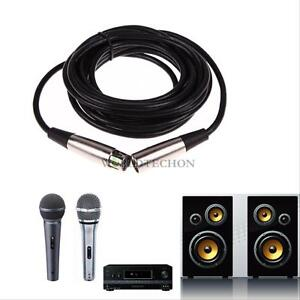 10FT-3pin-FOOT-XLR-Male-to-Female-Mic-Cord-Microphone-Audio-Extension-Mic-Cable
