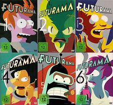 FUTURAMA serie completa stagione 1+2+3+4+5+6 19 DVD Matt Groening Simpsons