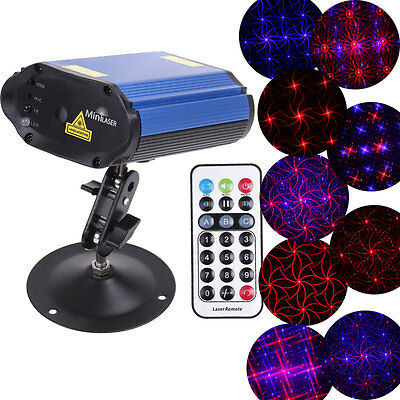 Mini Projector Voice Control Club Disco Laser Party Licht Bühnenbeleuchtung DHL