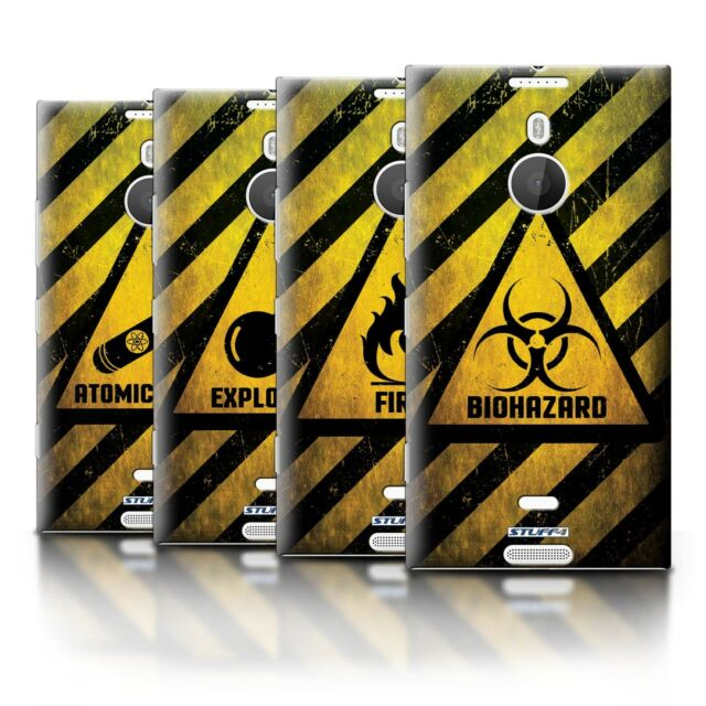 STUFF4 Phone Case/Back Cover for Nokia Lumia 1520 /Hazard Warning Signs