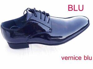 Caricamento dell immagine in corso SCARPE-UOMO -classiche-eleganti-blu-o-nere-45- 71e63d33a8a