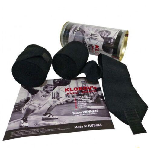 Klokov Winner Red Weightlifting Elastic Knee Bandage Extra Long 3.5 CrossFit