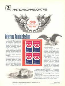 128-15c-Veterans-Administration-Stamp-1825-USPS-Commemorative-Stamp-Panel