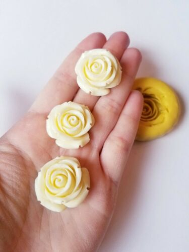 Rose mold fondant chocolate polymer clay  flower mold mini roses charm