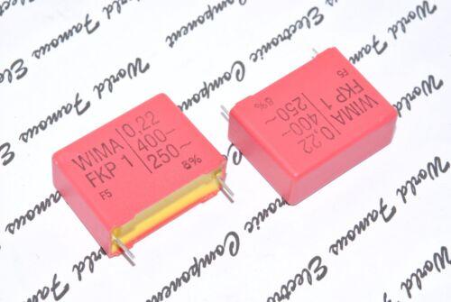 WIMA FKP1 0.22uF 1pcs 0,22µF 220nF 400V 5/% pitch:27.5mm Capacitor