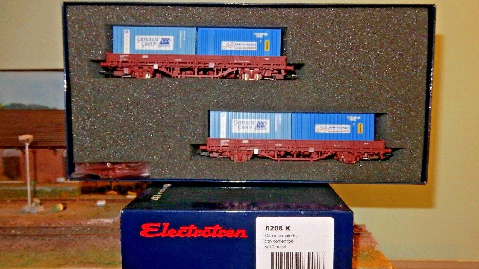 ELECTROTREN 6208 K Set 2 carri Ks 2 assi,container 20  Grimaldi Group + Maritain