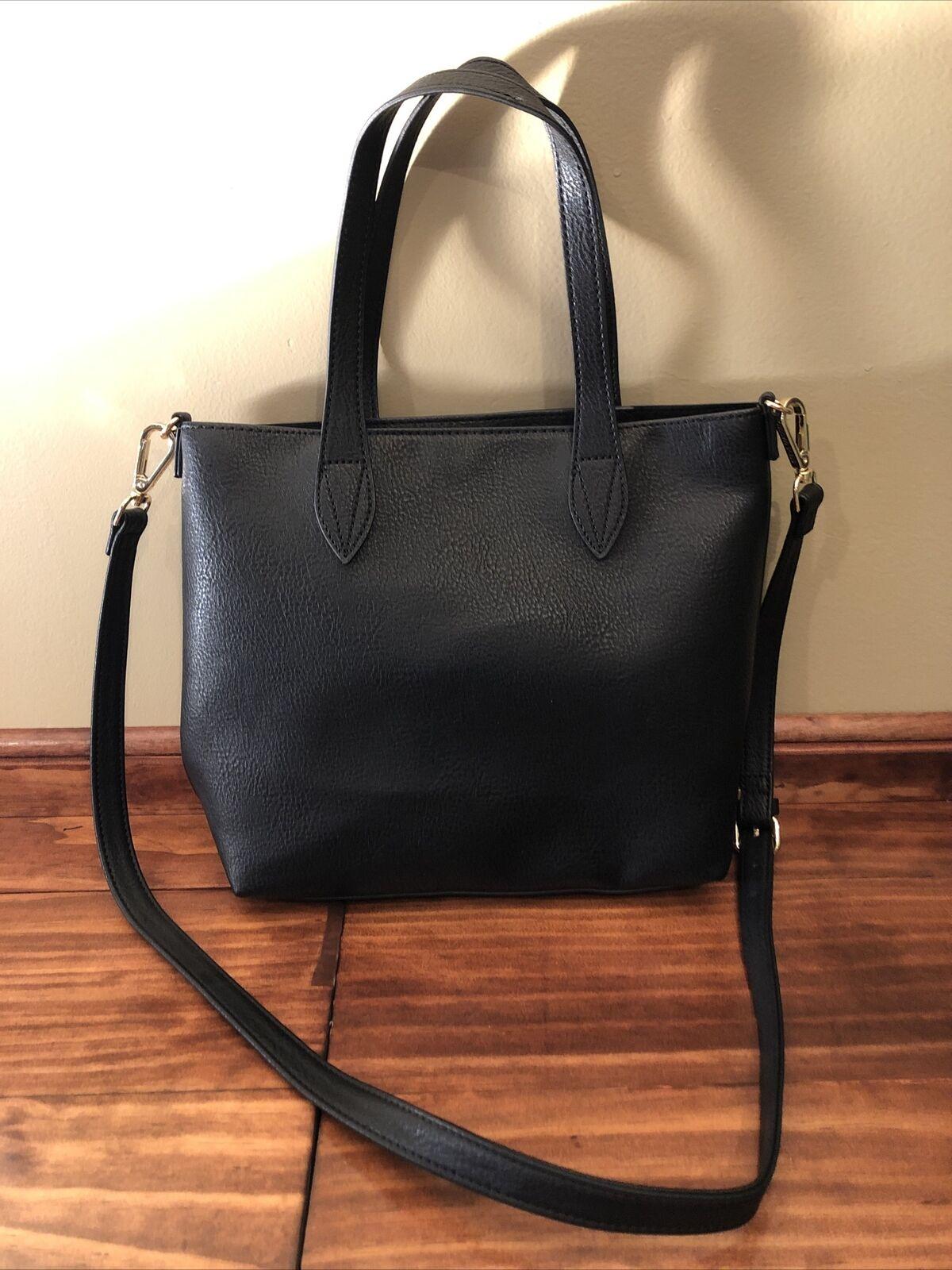 Steve Madden Black Synthetic Leather Medium Bucket Purse