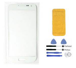 White-Front-glass-lens-screen-replacement-Galaxy-S4-mini-i9190-Adhesive-Tools