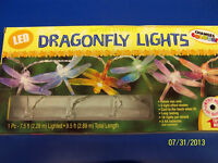 Dragonfly LED Lights Plastic Indoor Summer Luau Garden Hanging Party Decoration
