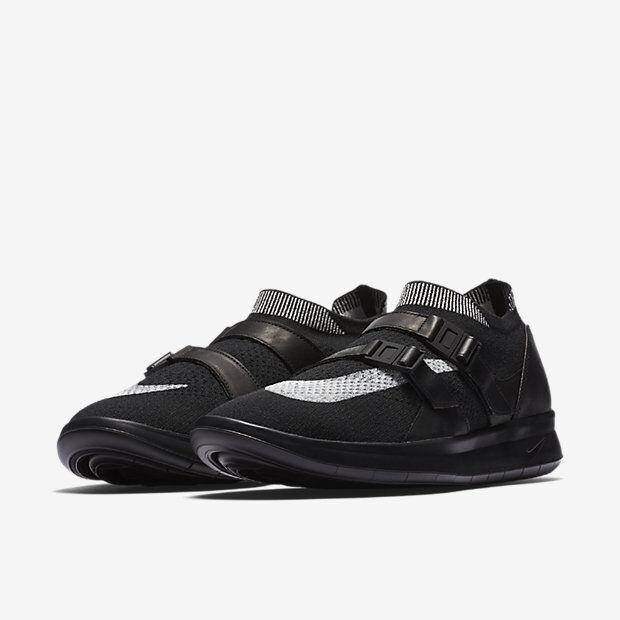 Nike NikeLab Air Sock Racer Ultra Flyknit Men's Shoes 11.5 Black White Black New