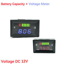 DC 12V Acid Lead Battery Capacity Voltage Meter Digital LED Indicator Motorcycle