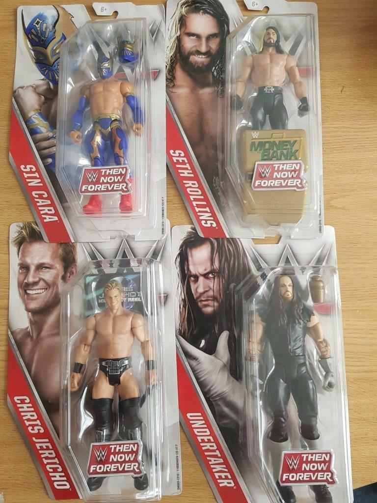 WWE Now Then Forever Figures With Accessories new/sealed