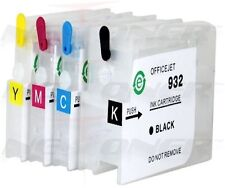4 Refillable Ink Cartridges for HP 932 933 XL Officejet H611a 7110 H812a 7610