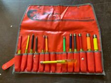 Vintage Snap On 13 Pc Sae Nut Driver Set With Bag Nd1300k New