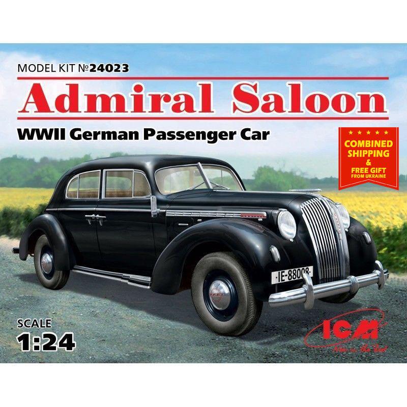 GERMAN PASSENGER CAR WWII, ADMIRAL SALOON 1 24 scale model kit ICM 24023