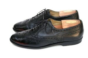 Image is loading Bragano-by-Cole-Haan-Black-Calf-Skin-Leather-