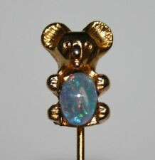 Cute Koala Bear With White Opal Stick Pin Stickpin Animal Jewelry Gold Tone