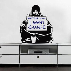 Banksy Wandtattoo Wandaufkleber Wandsticker decal sticker aufkleber barfy girl