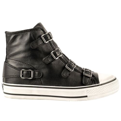 Top Sneaker Trainers Virgin High Womens Ash Leather Black AXaw7Cq