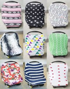 Image Is Loading CARSEAT CANOPY JERSEY STRETCH BABY CAR SEAT COVER