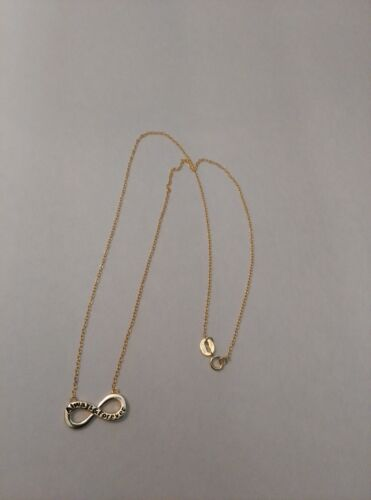 Always And Forever 18k Yellow Gold Over Sterling Silver Infinity Necklace