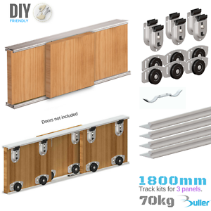 Image Is Loading Sliding Door Track System 70kg 1800mm 3 Doors