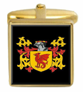 Select Gifts Ore Scotland Family Crest Surname Coat Of Arms Gold Cufflinks Engraved Box