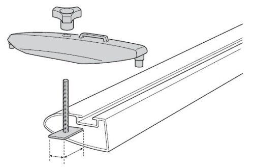 Kits T-Track 696-5 24x30mm en usine charges